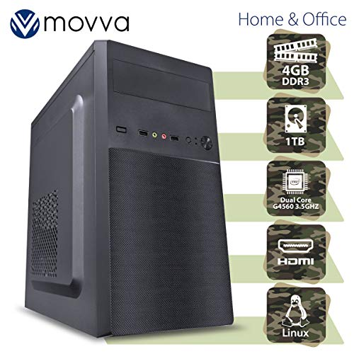COMPUTADOR LITE INTEL PENTIUM DUAL CORE G4560 3.5GHZ 7ª GER MEMORIA 4GB DDR3 HD 1TB LINUX - MVLIPG4560H110D31T4 - MOVVA