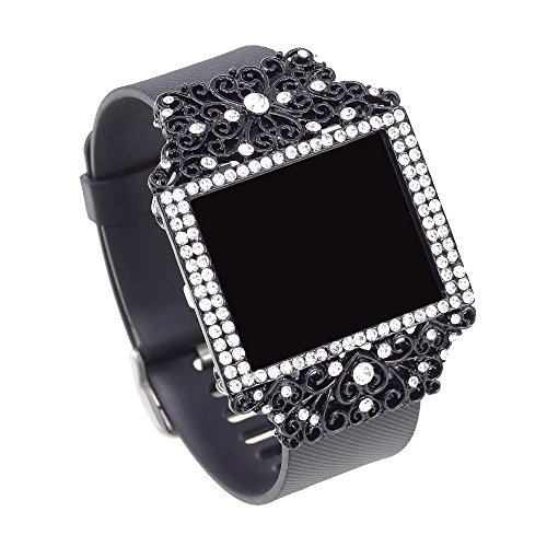 Bling Jewelry Accessory For Fitbit Blaze (Heart BLACK)