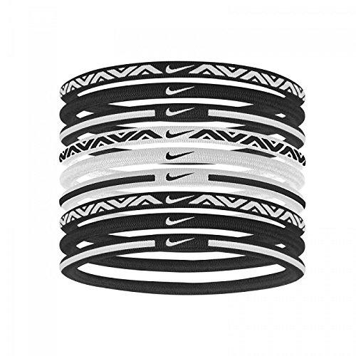 Nike Elastic Hairbands, 2.0 9-pk (Black/White) (not Headbands)