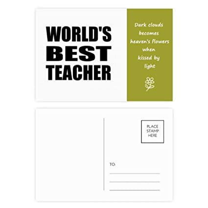 Amazoncom Worlds Best Teacher Student Quote Poetry Postcard Set