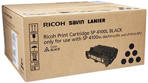 Ricoh 407010 Aficio SP 4100 Toner Cartridge (Black) in Retail Packaging