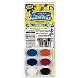 Crayola 5305160005 Acuarela Lavable con Pincel, Paquete de 16