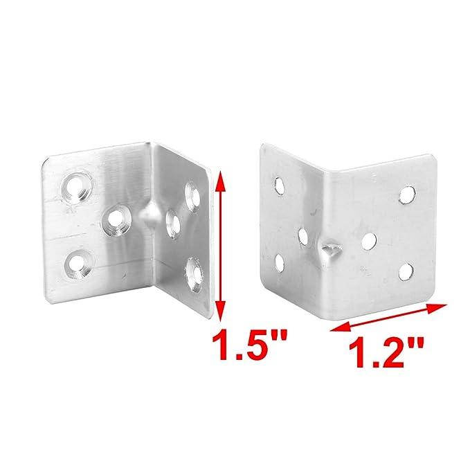 5pcs Haus Metall L-Form Eck 6 Löcher Verschluss Winkelträger Winkelkonsole