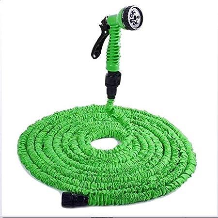25-150FT extendido manguera de jardín lavado de autos riego 7 pistola pulverizadora manguera mágica flexible luz hinchable a prueba de fugas fácil de almacenar: Amazon.es: Hogar