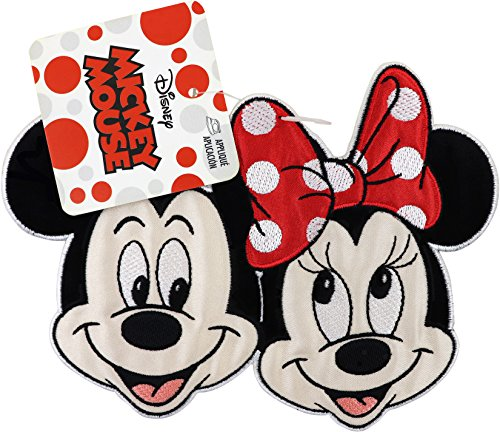 - Wrights 1938420001 Disney Mickey Mouse Iron-On Applique, Mickey & Minnie