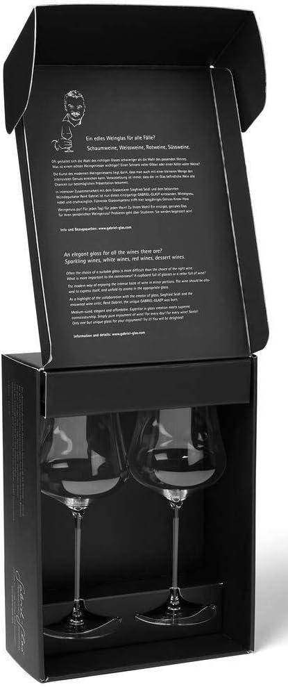 Gabriel Glas/-/cristallo austriaco/-/Calice da vinoStandart Edition Set of 2 Clear