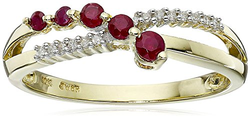 Yellow Gold Ruby Diamond Journey