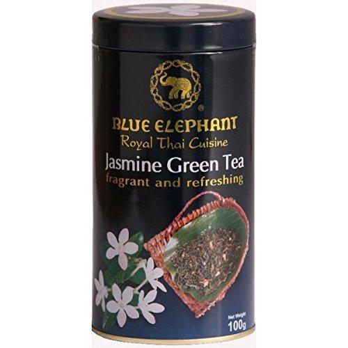 Blue Elephant, Royal Thai Cuisine, Jasmine Green Tea, net weight 100 g (Pack of 1 can) / Beststore by KK