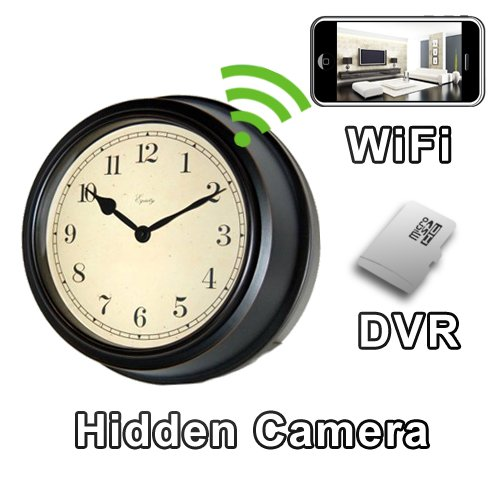In Built Pinhole (PalmVID WiFi Antique Wall Clock Hidden Camera Spy Camera with Live Video Viewing)