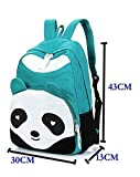 Dalino Panda Shape Casual Style Travelling Canvas Backpack(Light Green)