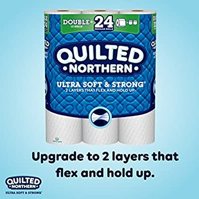 Quilted Northern Ultra Soft & Strong Toilet Paper,12 Double Rolls, 12 = 24 Regular Rolls
