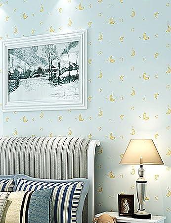 MK Moderne Tapete Art Deco 3D Lovely Mond Tapete Wandverkleidung, Vlies  Stoff Wall Art Aegean