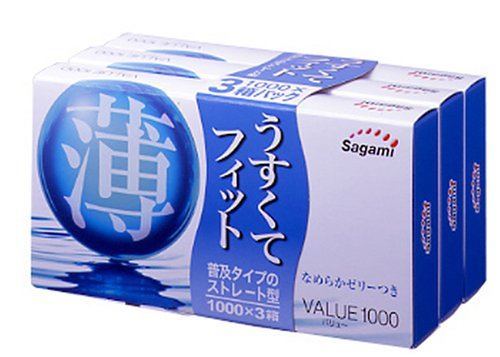Sagami Value 1000 condom 12Pcs x 3Pack (Japan Import)