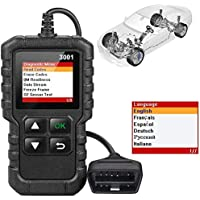 Car Fault Finder, Obd-Ii Scanner,Obd-Ii To Db9 Cable,CR3001 OBD II full-featured reading card,Fast scan and clear Engine…
