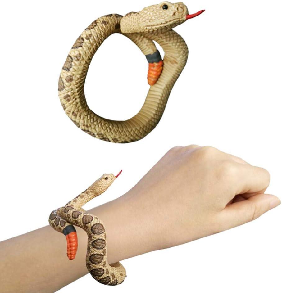 TOYANDONA realistico serpente falso 1 pz sembra un vero serpente braccialetto scherzo scherzo giocattolo per festa in costume cosplay halloween pesce daprile