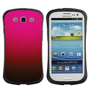 Suave TPU GEL Carcasa Funda Silicona Blando Estuche Caso de protección (para) Samsung Galaxy S3 I9300 / CECELL Phone case / / Gradient Color Pink Red Brown /