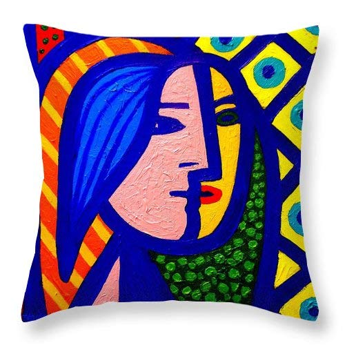 Homage to Pablo Picasso Cotton Square Throw Pillow Case Decorative Cushion Cover Pillowcase Cushion Case for Home Office Sofa 18 x 18 Inch