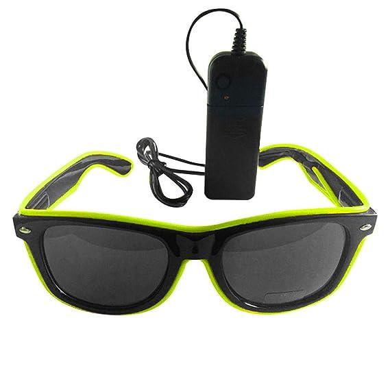 VJGOAL Moda unisex gafas de luz LED Club Party Gafas de luz ...