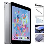 Apple iPad 6th Gen 128GB (2018 Model) with Saiborie $49.99 Value Accessories, Wi-Fi Only, 9.7'' Retina Display, A10 Fusion chip, Touch ID, Apple Pay, Night Shift (Space Gray)