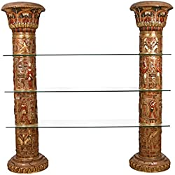 Design Toscano Egyptian Columns of Luxor Shelves, Full Color