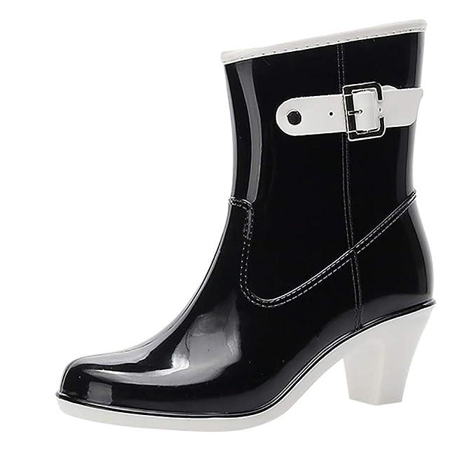 Plus Size Nuovi Stivali Da Pioggia Donna Alti al ginocchio