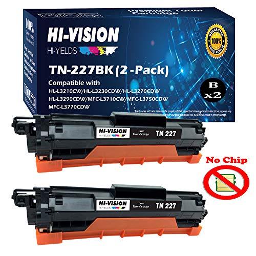 (2 Black) Compatible TN-227 TN227 Toner Cartridge Replacement for HL-L3210CW HL-L3270CDW HL-L3290CDW MFC-L3710CW MFC-L3750CDW MFC-L3770CDW, Sold by HI-VISION HI-YIELDS -  HI-VISION HI-YIELDS®, TN223/227