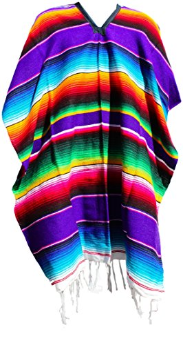 Trade MX Authentic Mexican Poncho (Multiple Colors Available) (Purple) ()