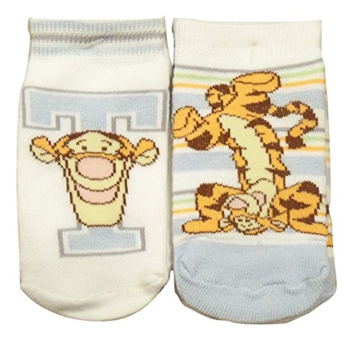 Winnie The Pooh Slippers (Winnie the Pooh 2 Non-slip Baby Socks ~ 18-24 Months (T for Tigger; Handstand))