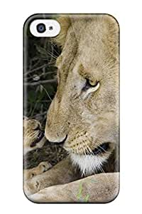 High Impact Dirt/shock Proof Case Cover For Iphone 4/4s (lions Wallpaper)