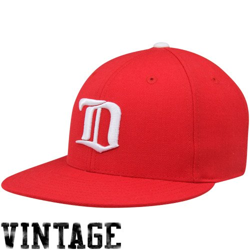 Ness Wings Red Detroit - Mitchell & Ness Detroit Red Wings Vintage Fitted Hat 7 1/4 In