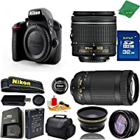 Great Value Bundle for D3300 DSLR – 18-55mm AF-P + 70-300mm AF-P + 32GB Memory + Wide Angle + Telephoto Lens + Case