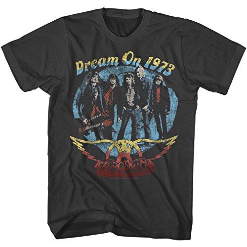 American Classics Unisex Aerosmith Dream On Adult Short Sleeve T-Shirt, Smoke, -