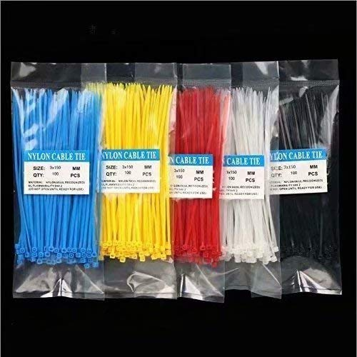100 mm x 2,5 mm Doyime 100pcs Serre-cables Boucle De Cable Denveloppe en nylon r/ésistant Liens Fixer Fil Auto Verrouillage