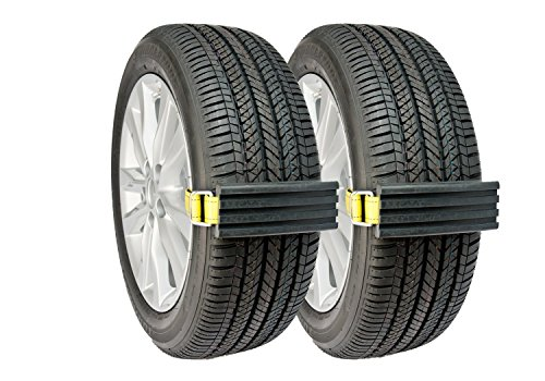 (Trac-Grabber - Snow, Mud and Sand Tire Traction Device for Cars and Small SUVs - Set of 2 - A Chain / Snow Tire Alternative That Helps You Get Unstuck - Easy Install Blocks Strap To Your Vehicle Tires)