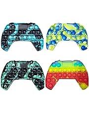 Pop Push Game Controller Gamepad Shape Pop Push tie dye Bubble Sensory Fidget Toy Special Needs Stress Reliever for Kids & Adults(4 Colors)