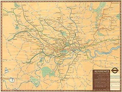 London Underground Rail Map.Amazon Com London Transport Tube Underground Railway Map Number