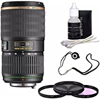 Pentax SMCP-DA 50-135mm f/2.8 ED (IF) SDM Autofocus Lens + 3 Piece Filter Kit + Deluxe 3pc Lens Cleaning Kit + Lens Cap Keeper 6AVE Bundle