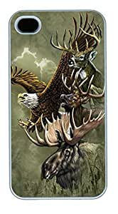 IPhone 4S Cases North American Totem Polycarbonate Hard Case Back Cover for iPhone 4/4S White