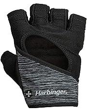 قفازات Harbinger للسيدات FlexFit للغسيل والتجفيف رفع الأثقال مع راحة جلدية مبطنة (زوج واحد)