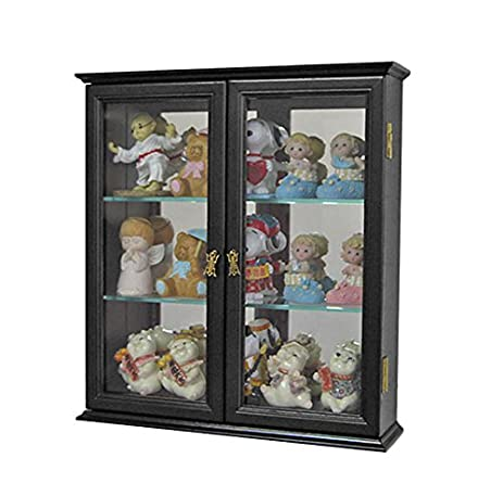 Amazon.com: Small Wall Mounted Curio Cabinet / Wall Display Case ...