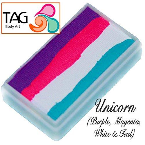 TAG Face Paint 1-Stroke Split Cake - Unicorn Magenta (30g) (Painting Cakes)