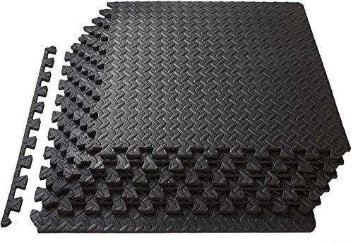 Lsooyys - Alfombra de proteccion de suelo, 12/16/48 baldosas de espuma para gimnasio, garaje, aislamiento contra golpes, ruido, rayaduras, 48 PCS
