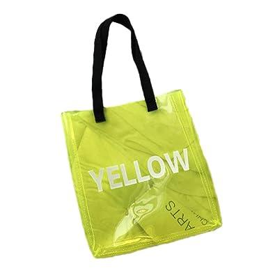 Bolsa de asas de plástico transparente de moda Bolso simple ...