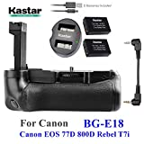 Kastar Pro Multi-Power Vertical Battery Grip + 2x LP-E17 Replacement Batteries + Dual USB Charger Kit for Canon EOS 77D, EOS 800D, Rebel T7i, Kiss X9i Digital SLR Cameras
