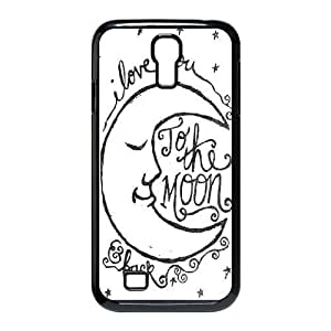 DIY Protective Snap-on Hard Back Case Cover for SamSung Galaxy S4 I9500 with I love you to the moon and back