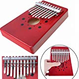 Luvay 10 keys Finger Thumb Piano African Instrument Mbira Kalimba (Red)