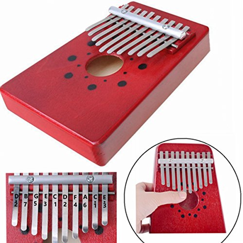 Luvay Kalimba Thumb Piano Mbira, Finger Piano African Instrument (10keys-Red) - Image 5
