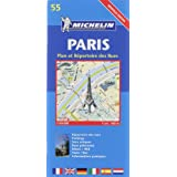 Michelin Paris Street Map with Index Map No. 55