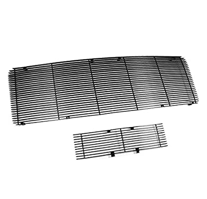 APS Fits 2009-2014 Ford F150 Black Stainless Steel Billet Grille Upper+Lower #F86614J