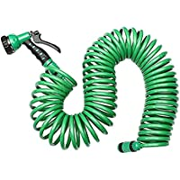 Zehui Professional 7.5m Household Car Wash Garden Water Hose Kit Retractable Coil Hose with 7 Pattern Spray Nozzle European standard
